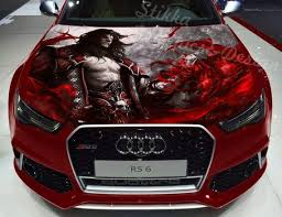 Vinyl Car Hood Wrap Full Color Graphics Decal Vampire Lord Etsy