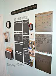 Vertical Week Schedule Chalkboard Vinyl Wall Decal Home Command Center Family Organization Wall Chalkboard Vinyl