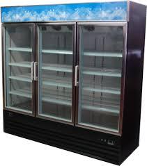 3 glass door cooler merchandiser 72 cu