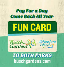 busch gardens tampa pay for a day get