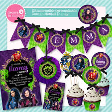 Kit Imprimible Personalizado Descendientes Disney Decoracion