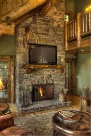 i like the stone work on the fireplace