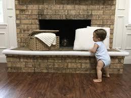 pool noodles diy fireplace brick guard