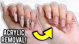 remove acrylic nails at home step by