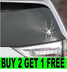 Black Widow Spider Vinyl Decal Car Window Bumper Sticker 4 Size 14 Colors Ebay