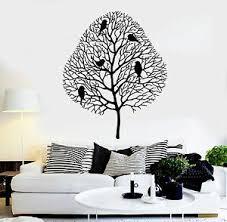 Vinyl Wall Decal Bare Tree Branches Birds Room Art Idea Stickers Mural Ig4934 Ebay