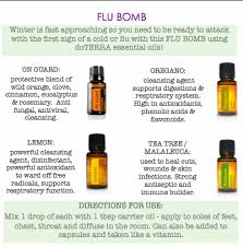 flu with doterra essential oils
