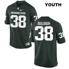 Byron Bullough no. 38 Nike Michigan State Spartans Stitched Authentic Youth  Green College Football Jersey - MSU Football Store