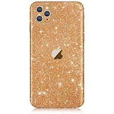 Amazon Com Iphone 11 Pro Max Bling Skin Sticker Supstar Full Body Glitter Vinyl Decal Dustproof Anti Scratch For Apple Iphone 11 Pro Max Champagne Gold