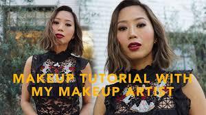 smokey eyes red lip makeup tutorial