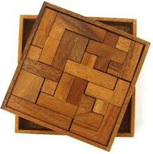 solid pentominoes wooden brain teaser