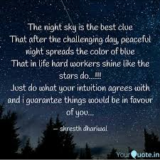 the night sky is the best quotes writings by shresth