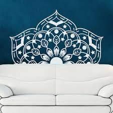 Half Mandala Wall Decal Yoga Studio Sticker Bohemian Bedroom Decor Vinyl Ma81 Ebay