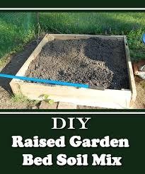 diy raised garden bed soil mix