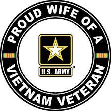 Amazon Com Military Vet Shop U S Army Proud Wife A Vietnam Veteran Window Bumper Sticker Decal 3 8 Automotive