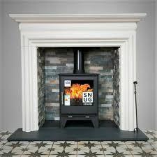 aegean limestone fireplace surround