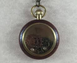 steampunk pocket watch necklace charm