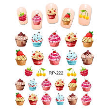 Uprettego Nail Art Beauty Water Sticker Decal Slider Cartoon Cute Dessert Coconut Ice Cream Cake Cherry Fruit Cup Rp217 222 Stickers Decals Aliexpress