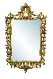 vintage gold gilt rococo mirror 27x47