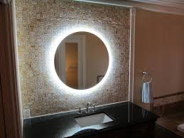 side lighted led bathroom vanity mirror