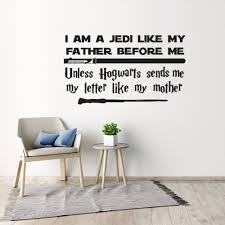Star Wars Jedi Wall Decal Harry Potter Letter Quote Vinyl Wall Sticker School Home Decoration Removable Hot Movie Poster Az181 Buy At The Price Of 6 38 In Aliexpress Com Imall Com