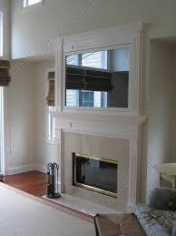 tv above fireplace astonish