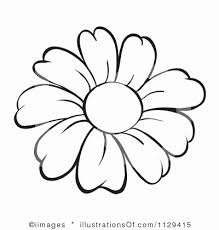 sunflower clipart black and white free