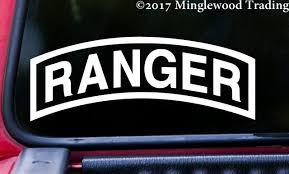 Army Ranger Tab 5 X 2 White Vinyl Decal Sticker 75th Regiment Us Rangers Minglewood Trading
