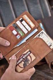 men s checkbook leather wallet