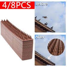 4 8pcs Fence Wall Spikes Cat Bird Harmless Deterrent Tool Anti Climb Plastic Wish