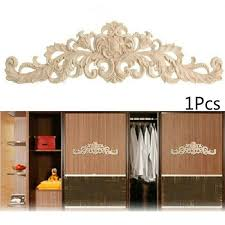 1pcs Carving Wood Appliques Unpainted Wooden Mouldings Decal Accessories For Furniture Cabinet Wish