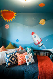 Room Transformations From The Property Brothers Space Themed Room Kids Room Wall Color Space Themed Bedroom