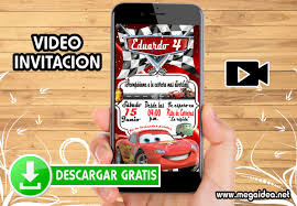 Video Invitacion Cars Gratis Mega Idea