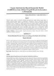 PDF) Yaşam Aktivitelerine Dayalı Hemşirelik Modeli (YADHM)'ne Göre ...