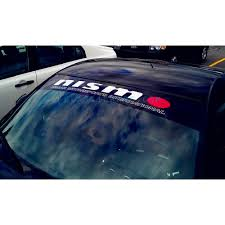 Nismo Nissan Motorsports Windshield Decal Style 2