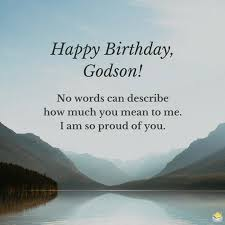 birthday wishes for your godson