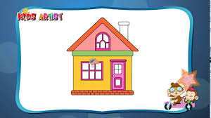 Easy HOUSE Drawing for Kids [Vẽ ngôi nhà cực dễ cho các bé yêu ...