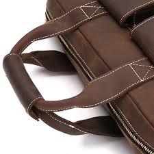 mens brown leather laptop bag zlay