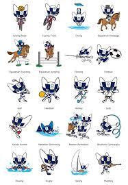 Tokyo 2020; Mascot Images Representing ...