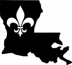 Louisiana State Fleur De Lis Vinyl Decal Etsy