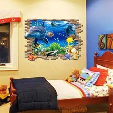 New Sea Whale Fish 3d Wall Stickers For Kids Room Removable Decoration Gifts Leads