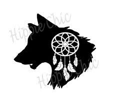 Wolf Dream Catcher Vinyl Decal Etsy