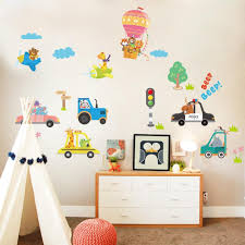 Happy Rushed Animals Children Wall Stickers Gallery Wallrus Free Worldwide Shipping