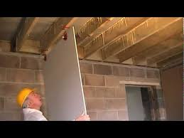 how to fit plasterboard to ceilings