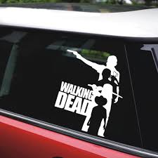 Tancredy 2nd Half Price Horror Walking Dead Movie Art Car Sticker Decoration Door Body Window Vinyl Stickers 12 5cm 15cm Car Stickers Aliexpress