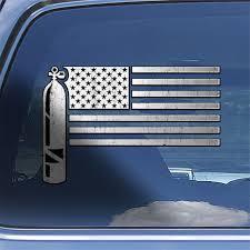 Usa Flag Scuba Diver Decal Scuba Diver Tank Window Sticker Etsy