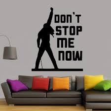 Freddie Mercury Queen Band Music Quote Dont Stop Me Now Wall Sticker Home Decor For Living Room Bedroom Vinyl Decal Mural Decor Stickers Decor Stickers For Walls From Joystickers 12 66 Dhgate Com