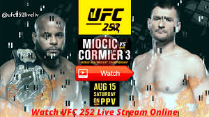 How to watch UFC 252: Live stream Miocic vs. Cormier, TV channel broadcast  in 2020 | Online streaming, Tv channel, Ufc