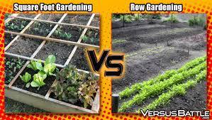 square foot gardening vs row gardening