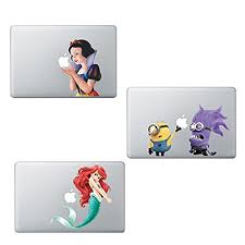 3 Pack Mermaid Stitch Disney Princess Snow White Despicable Me Minions Sticker Decal Macbook Air Pro Retina 13 On Galleon Philippines